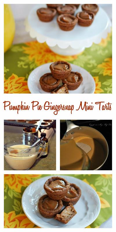 pumpkin pie gingersnap mini tarts.