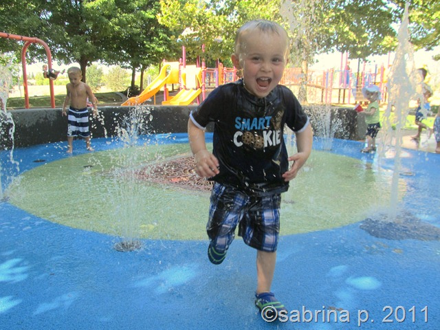blake splashing blue park