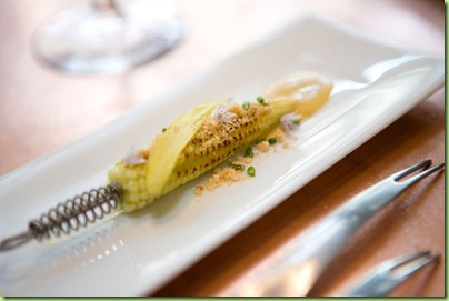 bitesize mini corn on the cob at minibar
