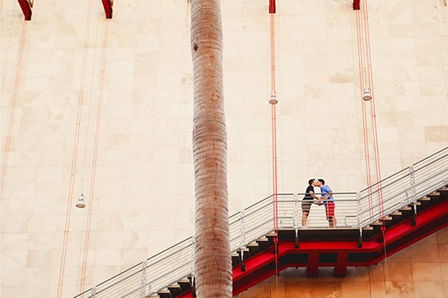 red_stairs_engagement_photos