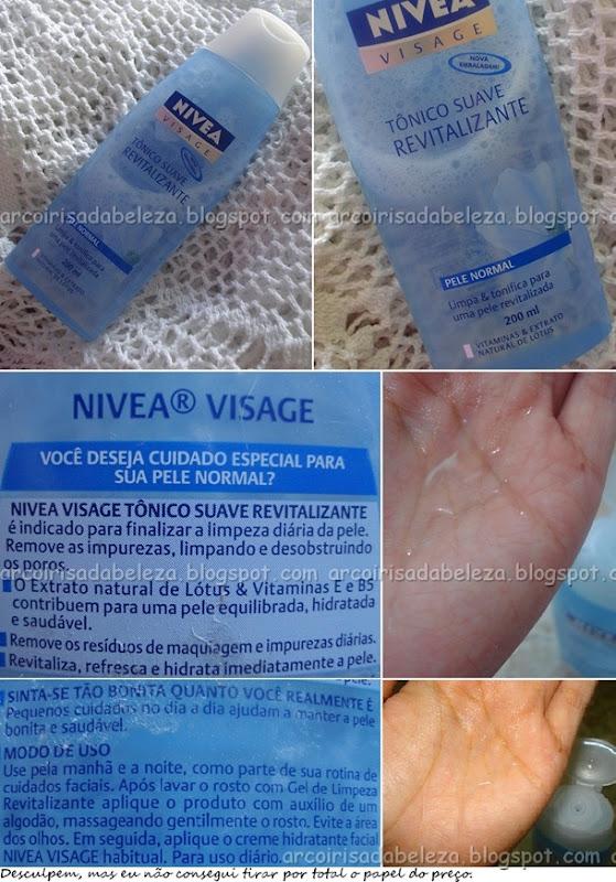 Tônico Suave Revitalizante - Nivea Visage