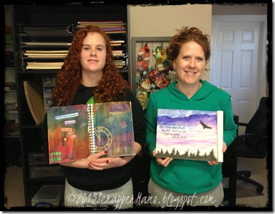 Kristy and Tory with projects
