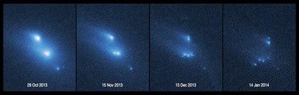 fragmentação do asteroide P/2013 R3