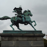 statue of kusunoki masashige in Tokyo, Tokyo, Japan