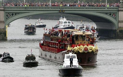 Бриллиантовый юбилей королевы Елизаветы II: королевская баржа