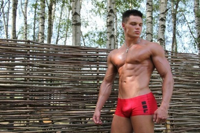 red-lycra-shorts-muscleboy-hottie