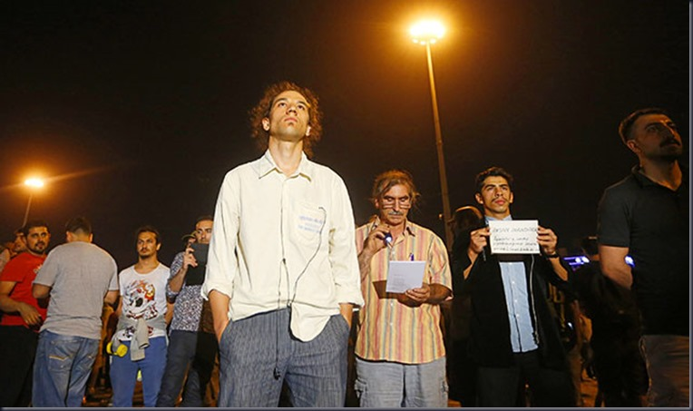 TURKEY-PROTESTS/STANDINGMAN