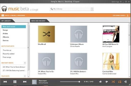 GoogleMusicWin7