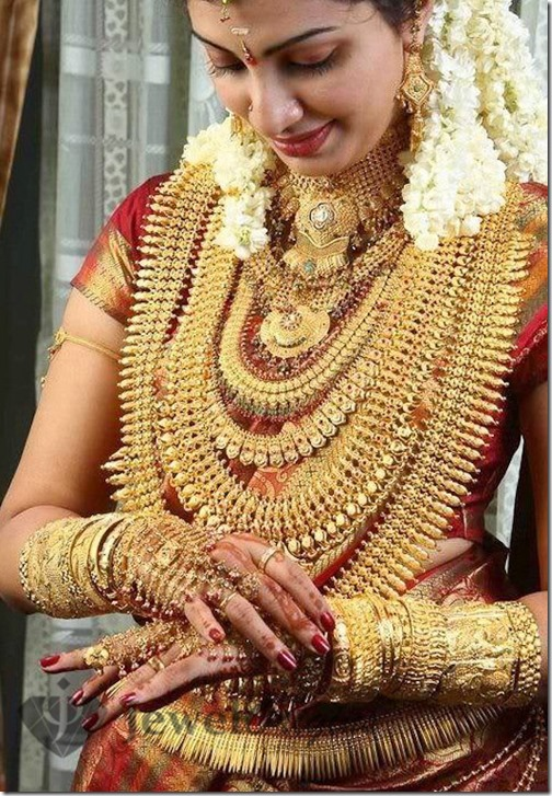 Kerala Wedding Jewellery Photos Checkout Kerala Bride With