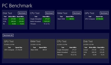 PC Benchmark for Windows 8