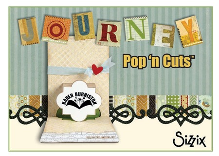 Journey Pop `n Cuts Collection by @KarenBurniston for Sizzix