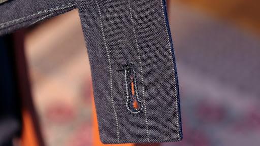 abito gessato pantaloni