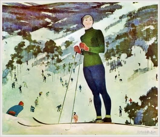 Смукрович Пётр Иосифович (Россия, 1878-1941) «На лыжах»