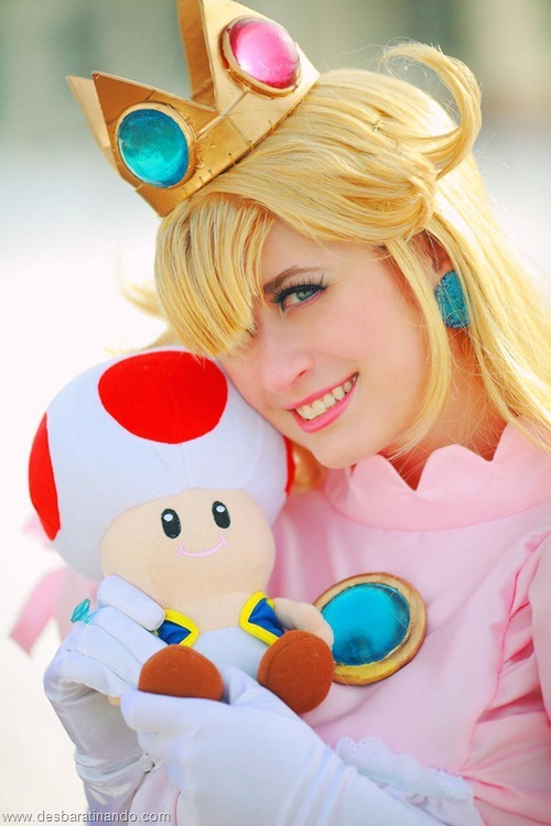 princesa peach cosplay Princess Peach cosplya desbaratianndo (9)