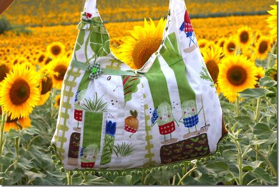 Vestito borsa orto e girasoli-016