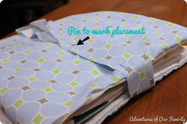diy quiet book cover strap
