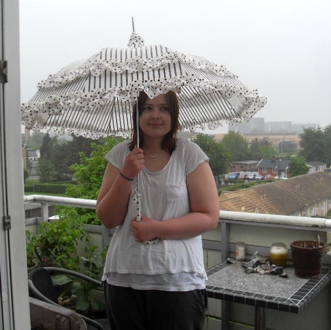 Paraply i regnvejr