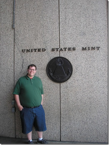 Kevin at the U.S. Mint in Philadelphia, PA