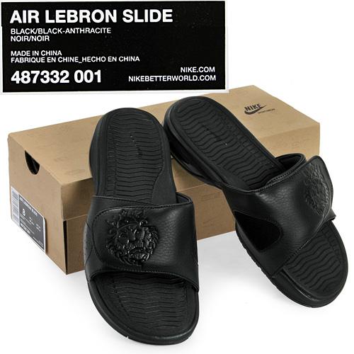 Nike Air LeBron Slide Gets the Triple Black Treatment