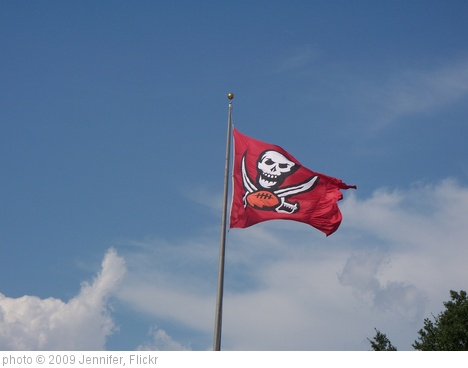 'Tampa Bay Buccaneers Flag' photo (c) 2009, Jennifer - license: http://creativecommons.org/licenses/by-sa/2.0/