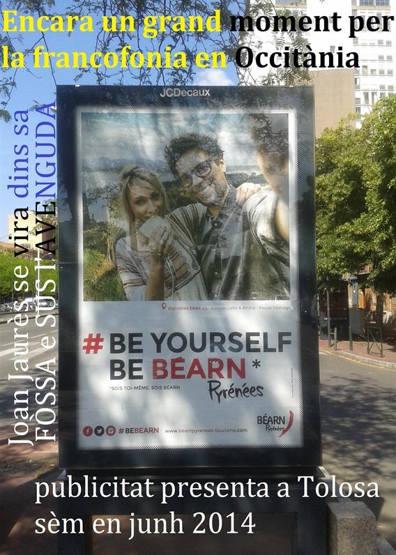 Joan Jaurès en Occitània publicitat de Bearn