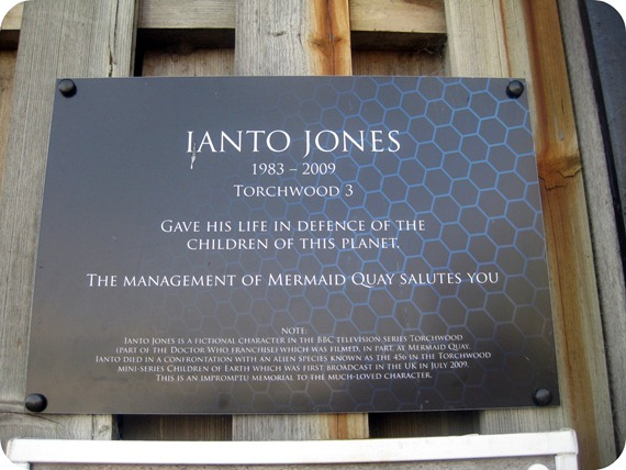 Ianto Jones memorial