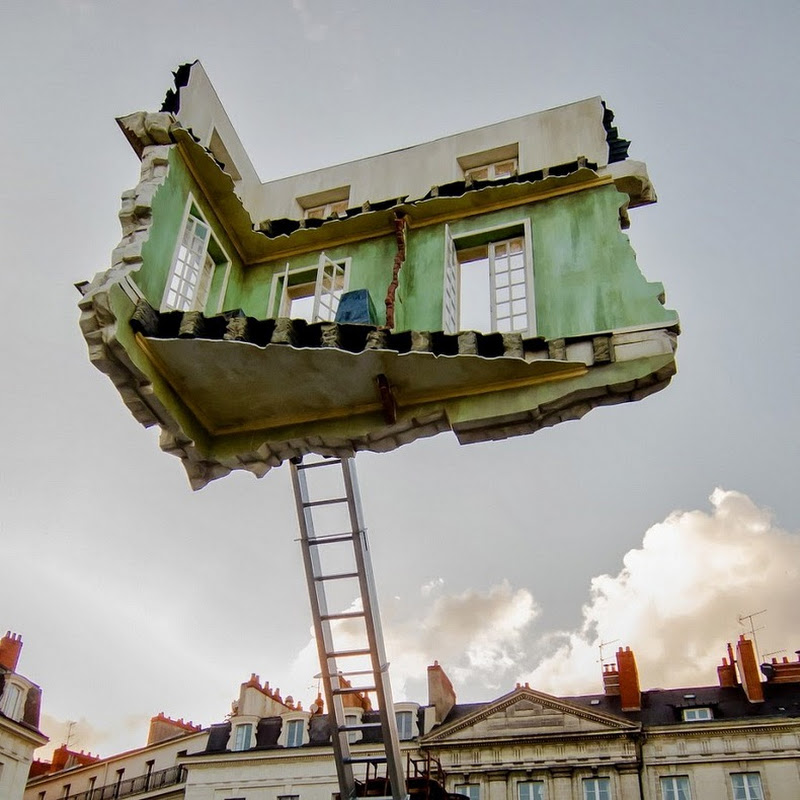 Surreal Floating Room Sculptures By Leandro Erlich Amusing Planet
