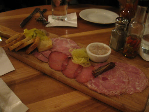 Dinner at Cochon had to start with some house-made charcuterie.  Yes, that's literally a little tub of lard.
