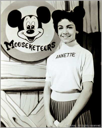 Annette Funicello in Mousketeer mode. CLICK for a full tribute from the LA Times.
