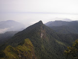 View north the summit of Gunung Besar (Daniel Quinn, October 2011)