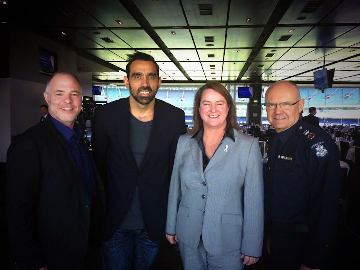 With Jackson Katz, Adam Goodes and Ken Lay at the Breaking Men's Silence Forum.