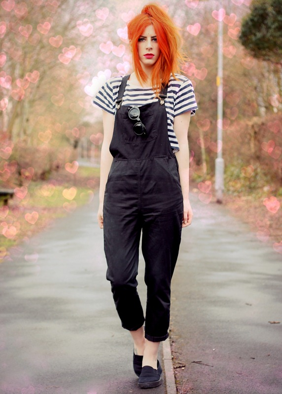 DAISYSTREET BLACK DUNGAREES
