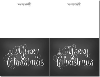 Merry Christmas Chalkboard cards for personal use