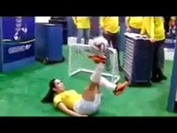 Hot Brazil Model with Amazing football Skills