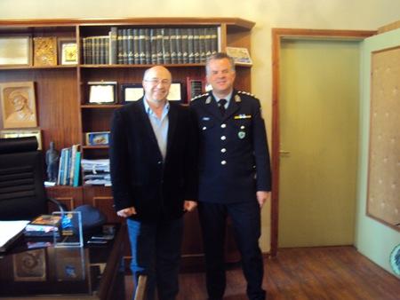 Επίσκεψη του νέου διευθυντή της Αστυνομικής Διεύθυνσης Κεφαλονιάς στον Αντιπεριφερειάρχη Κεφαλονιάς και Ιθάκης