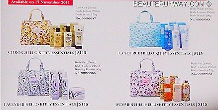Crabtree & Evelyn X Hello Kitty Lavender La Source Summer Hill Citron Limited Edition Christmas Sets
