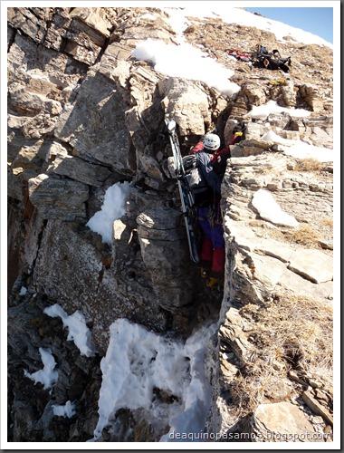 Corredor Gigolo 240m 65º IV (Cambre d'Aze 2750m, Cerdanya, Pirineos) (Omar) 0999