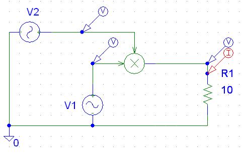 Schematic diagram of multiplier circuit