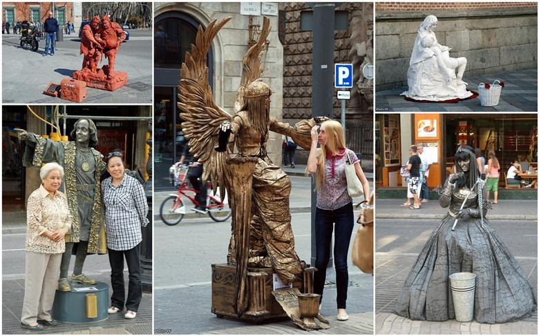 Living Statues At La Rambla Street, Barcelona  Amusing Planet
