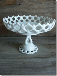 westmoreland glass milk glass compote