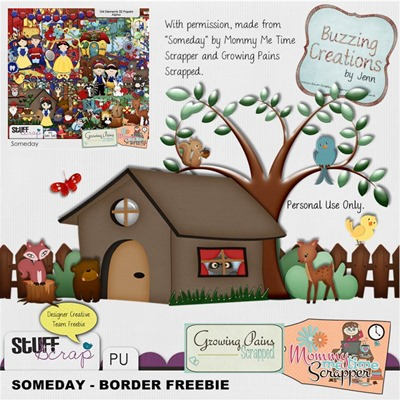 Mommy Me Time Scrapper - Someday - Border Freebie Preview