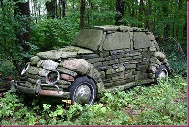 stone car
