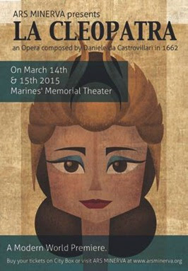 ARTS IN ACTION: Ars Minerva to perform Daniele da Castrovillari's 1662 LA CLEOPATRA