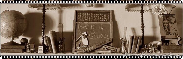 Back to School Mantel sepia