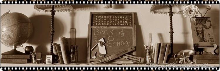 Back to School Mantel sepia
