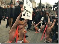 Активистки FEMEN попытались привлечь внимание к проблеме насилия над женщинами в мусульманских странах