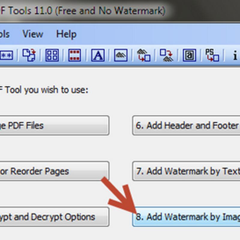 การสร้างลายน้ำแบบรูปภาพบนเอกสาร PDF