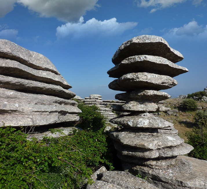 Limestone Elevation : Unusual rock formations at torcal de antequera amusing
