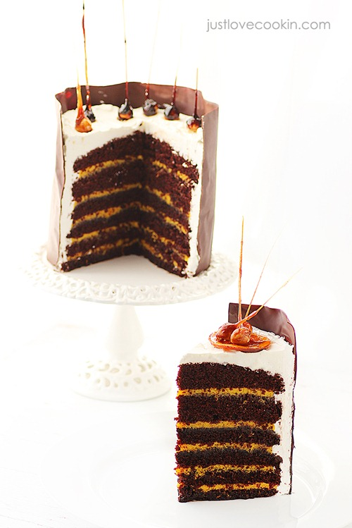 Orange curd chocolate cake 12