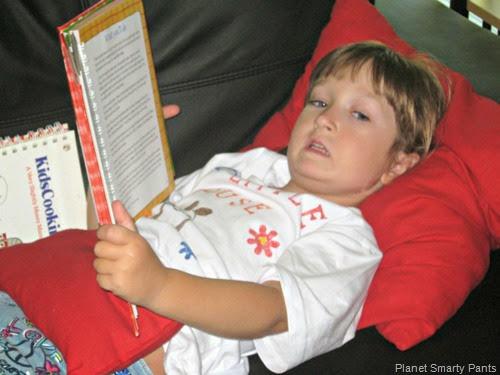 Kids cook - choosing recipes